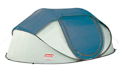 Coleman Pop Up Tent Galiano 4, 4 Man Past Pitch Festival Tent, absoltely waterproof 4 person Popup Camping Tent