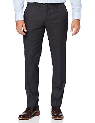 ESPRIT Collection Herren Anzughose 037EO2B016, Gr. 54 (Herstellergröße: 54), Schwarz (BLACK 001) (Slim-Fit)