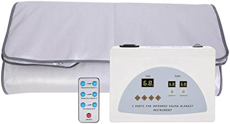 Wrme Saunadecke Tragbare persnliche Sauna Ferninfrarot zur Entspannung zu Hause,Digitale Ferninfrarot (FIR) Heat Sauna-Decke mit 2-Zonen-Controller zur Gewichtsrotuzierung Thin Body Home Beauty