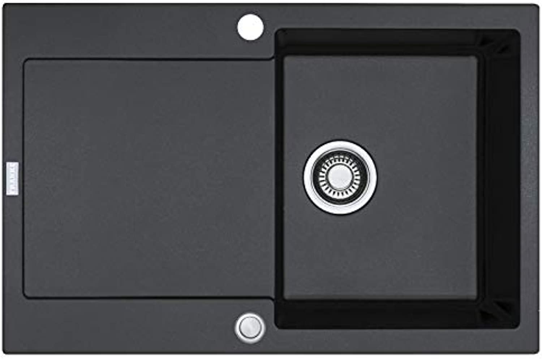Franke Maris MRG 211 Onyx - 11611 Granitspüle Exzenterbettigung