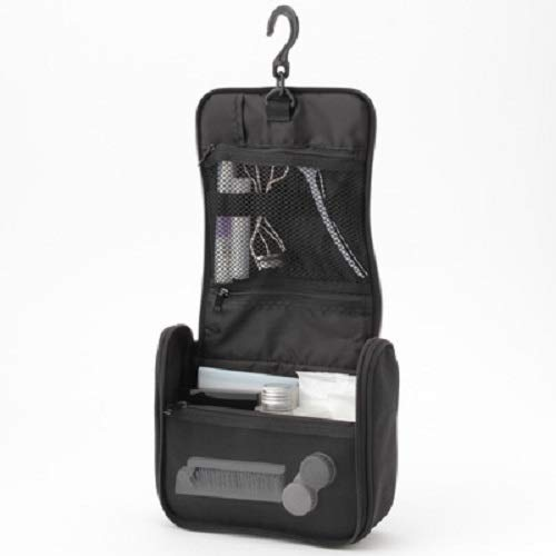 無印良品ポリエステル吊して使える洗面用具ケース黒・約16×19×6cm02125752