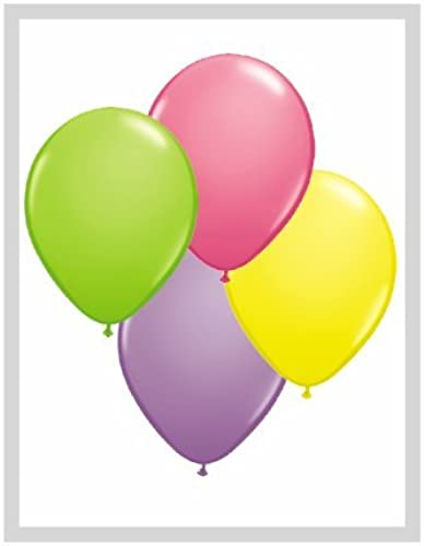 Qualatex 11 Runde Luftballons, Federsortiment, 100 Stück von Qualatex