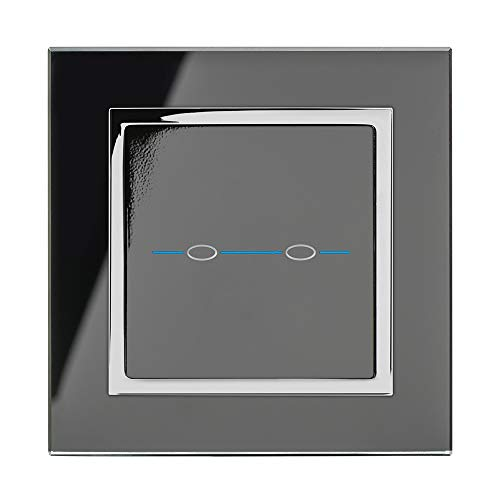 Double interrupteur de lumière//Socket Surround Acrylique De Doigt Shabby Chic Dsr11
