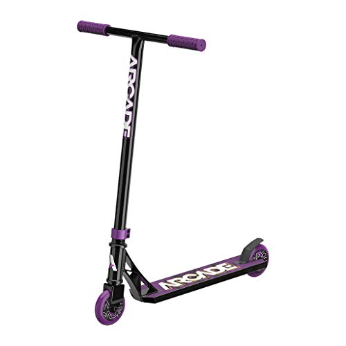 Arcade Rogue Pro Scooters for Kids 8 Years and Up (6 - 12 Years Old) – Beginner Kick Scooter / Stunt Scooter for Kids Freestyle, School Commute or Learn Trick Scooter Moves (Purple)