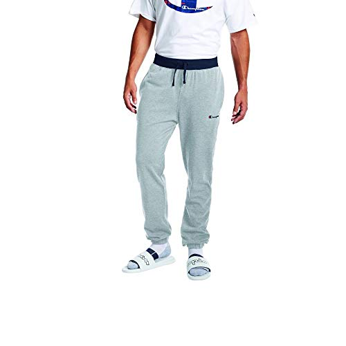 Champion Men's Middlewight Jogger Pant, Oxford Grey/Navy, Large