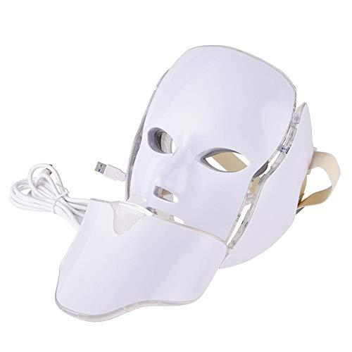 Oddity Equipos para el cuidado de la cara 7 colores LED Máscara facial de luz Fotorrejuvenecimiento Spectrum Instrumento de belleza con kits de máscara para el cuello