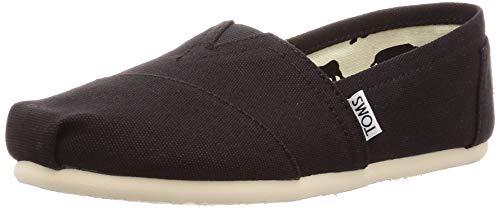 TOMS Women's Classic Alpargata Slip-On Shoe Black Canvas 6.5 M