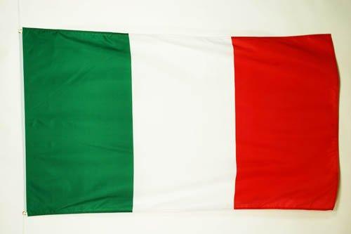 AZ FLAG Drapeau Italie 150x90cm - Drapeau Italien 90 x 150 cm - Drapeaux