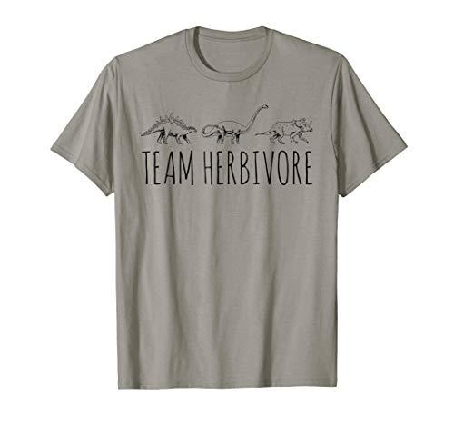 Team Herbivore Dinosaur Tee Vegan Vegetarian T-Shirt