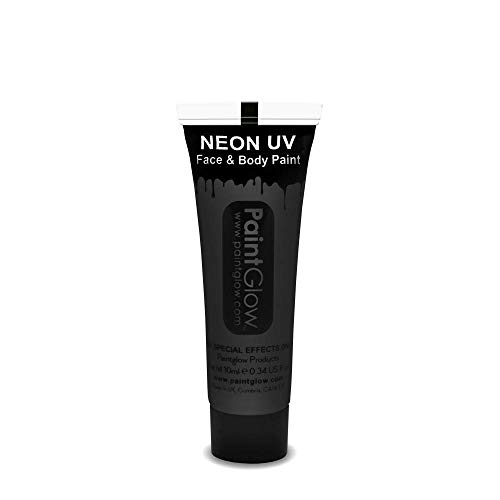 Smiffys - SM45995 - Peinture UV Corps et Visage 10 ml Noir - Taille Unique