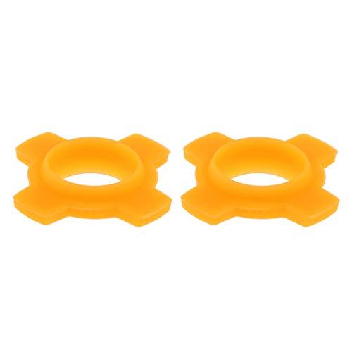 Homyl 2pcs Caoutchouc Anti-Chutes Micro Main sans Fil Fonctionne Bague de Protection Alléger Chocs Bosses pour KTV Appareil Multicolore - Orange