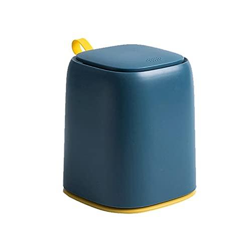 Kjgasutqsnljt Papelera, Papelera de Basura de la Basura de la encimera de la Papelera para la Mesa de tocador (Color : Navy Blue)