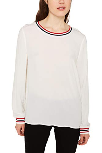 ESPRIT Damen 010EE1F308 Bluse, Weiß (Off White 110), 40