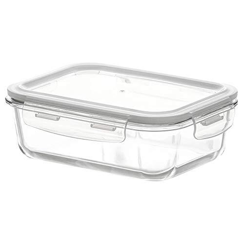 UANDM glazen opbergdoos met deksel magnetronoven speciale lunchbox glazen kom rechthoekige lunchbox transparante afdichting eenvoudig ontwerp duurzaam