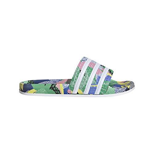 adidas Womens Adilette W Running Shoe, Supcol/FTWWHT/Legink, 40.5 EU