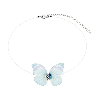 JAGETRADE Invisible Butterfly Pendant Necklace Transparent Fishing Line Chokers For Women Colors Randomly from JAGETRADE