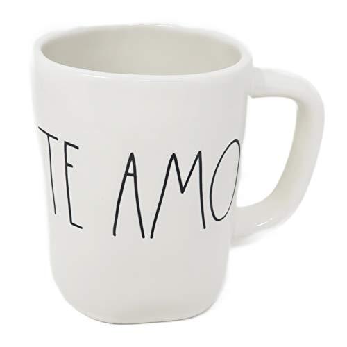Te Amo - I Love You in Spanish Rae Dunn Coffee Mug Artisan Collection by Magenta (Romantic Husband Wife Boyfriend Girlfriend Bride Birthday Valentine's Day Gift)