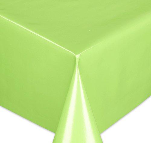 Wachstuchtischdecke Tischdecke Wachstuch abwischbar, Glatte Oberfläche Uni Motiv Grün, Farbe + Größe wählbar 100x140 cm