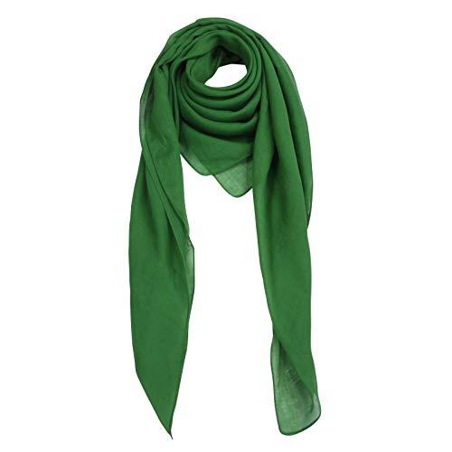 Superfreak Baumwolltuch - Tuch - Schal - 100x100 cm - 100% Baumwolle Farbe grün
