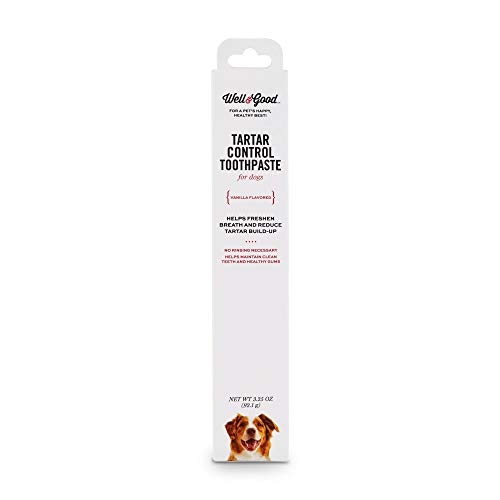 Well amp Good Vanilla Flavored Tartar Control Dog Toothpaste 325 oz