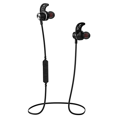 Wireless Bluetooth Headphones, Stereo Bluetooth Sport Earphones with Microphone, Bluetooth 4.1 in-Ear Earphones, Secure Fit Design