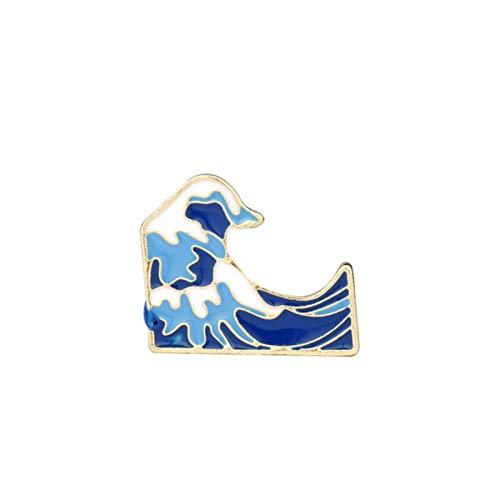 LIUL Moda Estrella de mar Cangrejo Estrella Concha Concha Ancla Pulseras con dijes para Mujeres niñas Estilo Dulce Flor de Fresa corazón Perlabrazaletes, Broche Azul