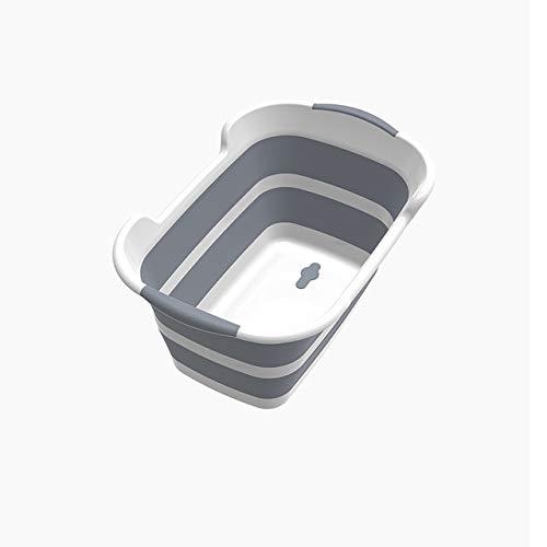 QQWH - Soporte plegable de silicona para bañera de bebé con orificios de drenaje para una fácil colocación
