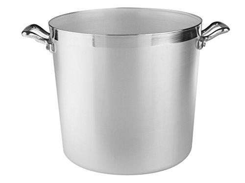 Pentole Agnelli FAMA330 Cacerola cilíndrica de cocina familiar en aluminio BLTF, asas, 20 litros, plata