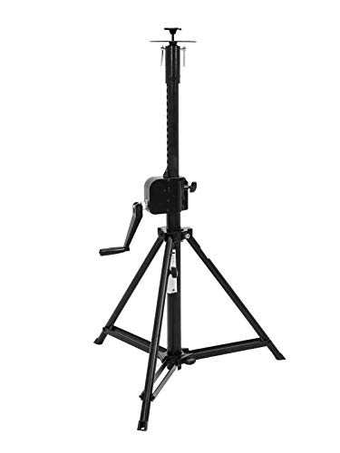 EUROLITE STV-150A Verfolger-Stativ | Verfolgerstativ mit Kurbel, Maximallast 35 kg, Maximalhöhe 155 cm