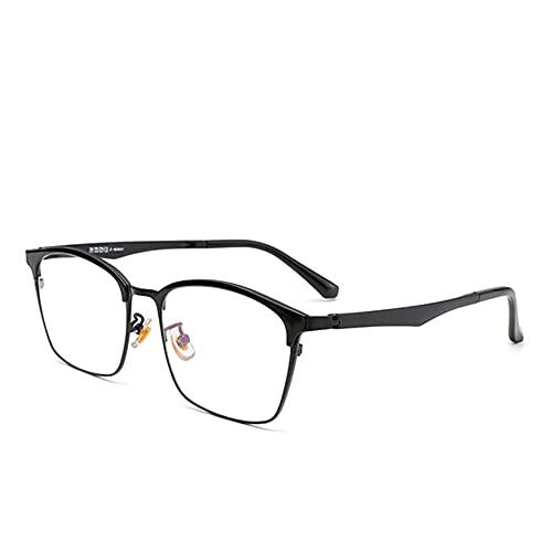 CAOXN Gafas De Lectura De Negocios De Enfoque Múltiple Inteligente para Hombres HD Anti-Luz Azul Lector De Lentes De Resina Antifatiga Dioptrías +1.0 A +3.0,Negro,+1.00