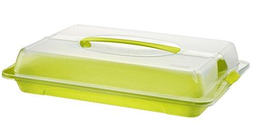 Rotho John Partybutler, Kunststoff (BPA-frei), grün / transparent, (43,5 x 29,5 x 9 cm)