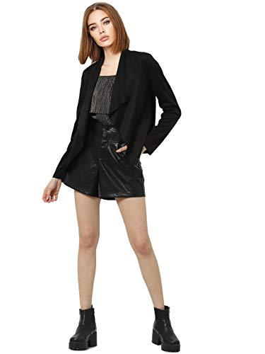 ONLY Damen ONLFLEUR Faux Suede Jacket CC OTW Jacke, Black, 36