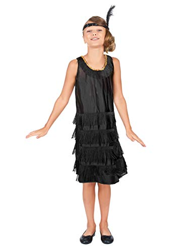 Generique - Disfraz de charlestón para niña - 5-7 años (128 cm)