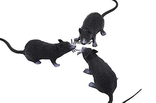 3 Pack Fake Rat, Realistic Mouse Model, Halloween Tricks Pranks Props Toy PVC