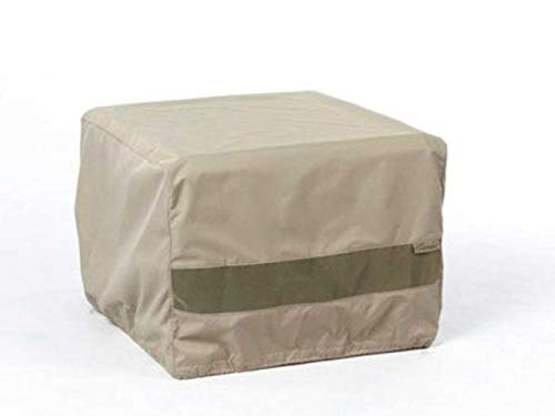 Covermates Square Dining Table Cover - Water-Resistant Polyester, Mesh Ventilation, Patio Table Covers - Khaki