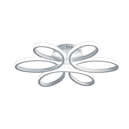 LED plafondlamp 40W 2800LM plafondlamp voor slaapkamer woonkamer keuken eetkamer studie moderne creatieve ronde bloem ontwerp kroonluchter mat wit aluminium schaduw 58 * 10CM