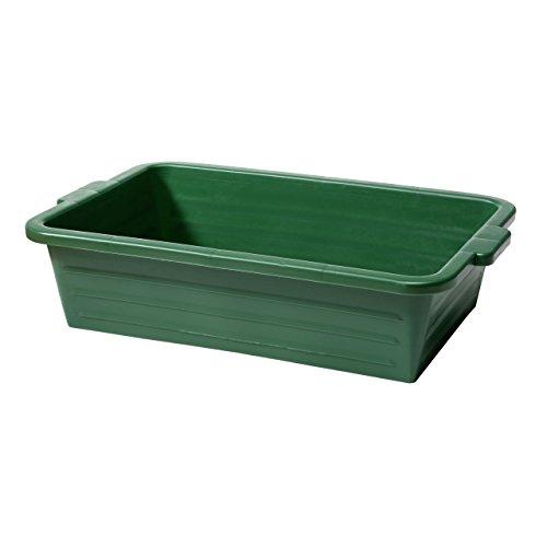 Cubeta porta caza, cubeta universal de plástico resistente y estable, color verde, apilables con asa