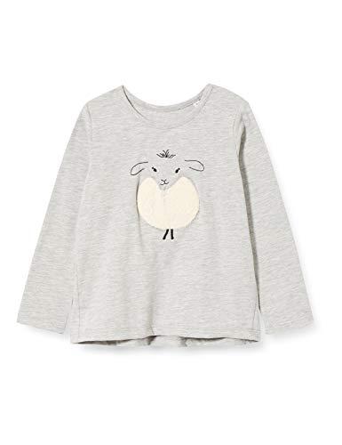 TOM TAILOR Langarmshirt T-Shirt, Lunar Rock Melange Beige, 9 Mesi Bimba