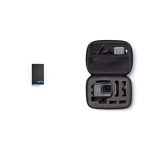 GoPro Max Rechargeable Battery Official Accessory Black Amazon Basics Carrying Case for GoPro Extra Small