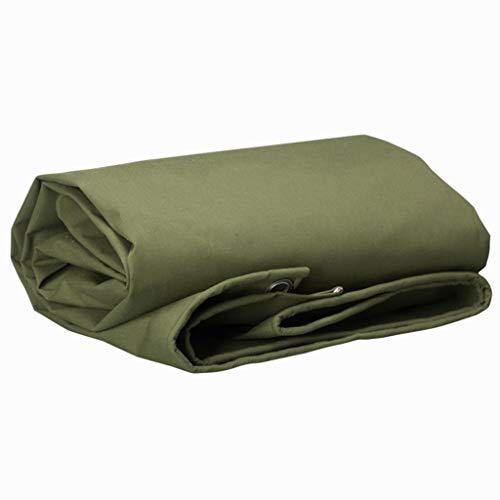 Dikke Linoleum, Open Air Tijdelijke Schaduwdoek Huishoudelijke Zonneschermen Stofdichte Occlusie Doek Camping Picknick Mat, 650g / Vierkante Meter 5 * 7m Groen