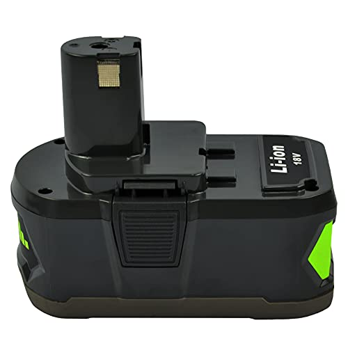 iPrize Batería de litio de 5000 mAh y 18 V para Ryobi ONE+ P108 P107 P105 P100 P101 RB18L40 RB18L50