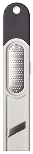 Microplane Ingwer-Reibe 3in1 Edelstahl Grau/Weiß zum Schälen, Reiben und Schneiden