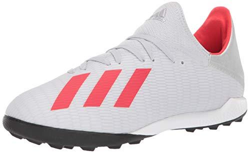 Zapatillas de fútbol Adidas X 19.3 Turf para hombre, gris (Plateado metálico/Hi-res rojo/blanco), 42.5 EU