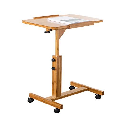 Wenjun Computertafel, ergonomische opvouwbare laptoptafel, draagbaar bureau voor laptop, opvouwbaar sofa-ontbijtblad, 60 cm, 70 cm, verrijdbaar 60 * 40 * 62-94cm