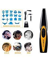 XINCARE Tondeuse à Cheveux pour Dessins,Tondeuse à Cheveux Électriquee de Découpage Ciseaux de Coiffeur Outils Sculptés Sans Fil Portable