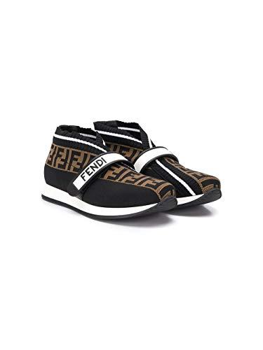 FENDI Luxury Fashion Junge JMR320AAE1F19N7 Braun Synthetisch Fasern Slip On Sneakers | Ss21