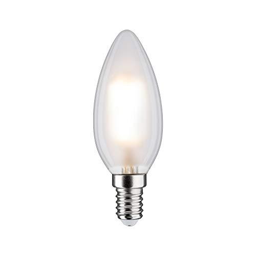 Paulmann 28613 LED Lampe Filament Kerze 5 Watt Klassik Leuchtmittel dimmbar Matt 2700 K Warmweiß E14