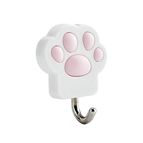 Gancho creativo para cocina con forma de pata de gato, 3 unidades, para organización de almacenamiento en el hogar (blanco)