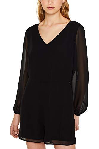 edc by ESPRIT Damen 119CC1L002 Jumpsuit, Schwarz (Black 001), 34 (Herstellergröße: XS)