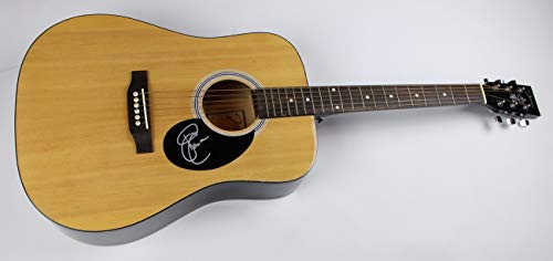 Sara Evans A Little Bit Stronger Signed Autographed Full Size Natural Wood Acoustic Guitar Loa